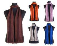 Mens Scarf - Classic Very Soft Knit Winter Scarf With Striped Design - 5 Colours