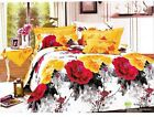 Queen Duvet Covers Comforter Sets 5Pc Pretty Yellow White Pink Floral Bed Linens