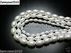 Top Quality Czech Glass White Pearl Oval Rice Loose Beads 16'' 6mm 7mm 8mm 9mm