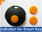 2x Button Rubber Pad for Smart Fortwo Remote Key FOB Pad