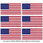 USA United States of America Flag Mobile Cell Phone Mini Stickers-Decals 40mm x6
