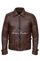 'SKYFALL' Men's Brown Film Movie Style Real Soft Lambskin Nappa Leather Jacket