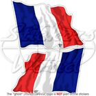 "FRENCH Flying Flag FRANCE Bumper Stickers 75mm (3"") x2"