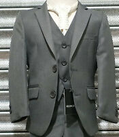 UK BOYS FORMAL 3 PC PAGEBOY WEDDING PROM SUIT IN GREY AGE 6 MTH TO 16 YRS
