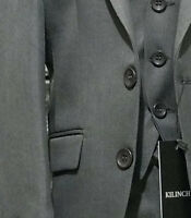 KILINCH 3 PC PAGE BOYS DINNER SUIT IN GREY WEDDING PROM AGE 6mths to 16 yrs