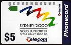 $5 SYDNEY 2000 GOLD SUPPORTER AUST TELECOM PHONECARD UNUSED MINT CONDITION