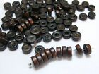 500 Brown Column Heishi Wood Beads 8X3mm Wooden Beads