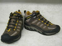 Merrell Refuge Core Mid Waterproof Stone Brown Lace Up Hiking Style Boots
