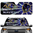 Baltimore Ravens Licensed NFL Reflective Car Windshield Sun Shade, Automotive