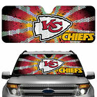 Kansas City Chiefs Licensed NFL Reflective Car Windshield Sun Shade, Automobile