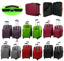 Hard Shell 4 Wheel Spinner Suitcase ABS Luggage Trolley Case Cabin Carry On Hand