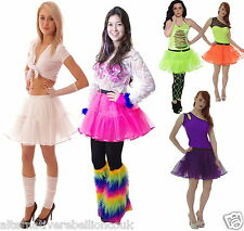 GIRLS NEON TUTU SKIRT  PARTY HALLOWEEN