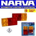 NARVA 93630BL2 LED TRAILER LIGHTS COMBO PAIR BOAT TAIL LIGHT LAMP LAMPS 12V