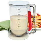 Norpro Batter Dispenser 4 cup Pancake Cupcake Pastry Waffle Crepes Mix & Pour