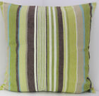 NEW SCATTER COVERS CREAM BEIGE GREEN BROWN STRIPED CUSHION COVERS