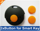 2 Button Rubber Pad for Smart Fortwo Remote Key FOB Pad