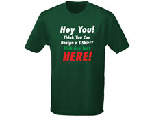 """Custom Printed Personalised """"YOUR TEXT"""" Mens T-Shirt (12 Colours)"""
