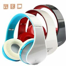 Foldable Wireless Bluetooth 2 CH Stereo Headset Headphone For iPhone Laptop PC