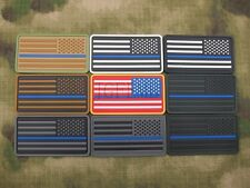 The thin blue line America flag Police SWAT Morale 3D PVC Velcro Patch Right