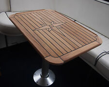 "Teak Table - Star ""Soft"" - Six Sizes - Marine - Motorhome / Caravan / Boat - NEW"