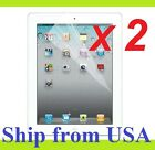 2x New Ultra Clear Screen Protector Cover Guard Film for Apple iPad 4 4th 3 2
