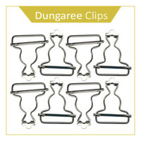 10 x Dungaree Fasteners Clip/Brace Buckles in Silver or Bronzes
