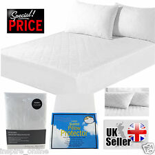 NEW LUXURY EXTRA DEEP QUILTED MATTRESS PROTECTOR BED COVER FITTED SHEET SIZES