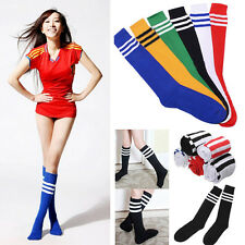 Fashion Stripped Football Soccer Hockey Sports Unisex Over Knee Socks 8 Colors