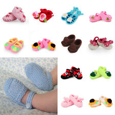 1Pair Baby Infant Toddler Newborn Girl Boy Crochet Knit Socks Crib Shoes Booties
