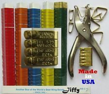USA 1000 pcs. STAMPED JIFFY Aluminum Wing Bands Chicken Pheasant Poultry Duck