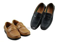 Mens Brown Black Causal Flats Fux Leather Penny Loafers Causal Dress Shoes