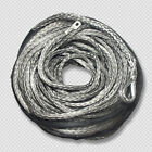 10mm x 30m Grey DYNEEMA SK-75 SYNTHETIC WINCH ROPE CABLE UHMWPE 9.5T 4x4 4WD ATV