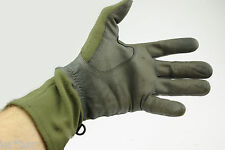 GLOVES GERMAN COMBAT ARMY  OLIVE/GREEN OD USED G2 --- military survival