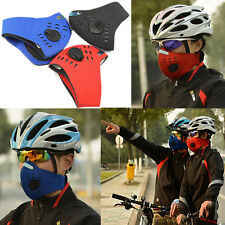Bike Cycling Anti-dust Half Face Mask with Filter Equipment Neoprene 3 Colors