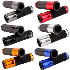 "CNC Motorcycle Aluminum Rubber Gel Hand Grips for 7/8"" Handle Bar Sports Bikes"
