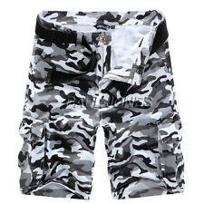 New Mens Combat Cargo Shorts Camouflage Camo Military Army Casual Shorts Pants