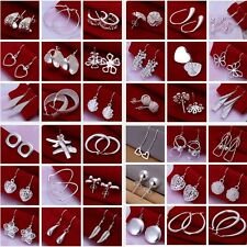 Wholesale Fashion Women Floral Earrings Jewelry 925 Sterling Silver Plated Stud
