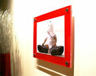 """RED GLOSS ACRYLIC 14X16"""" 10MM PHOTO PICTURE FRAME for a 10x12"""" (25x30cm) photo"""