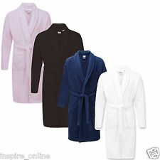 NEW 100% EGYPTIAN COTTON DRESSING GOWN SHAWL TOWELLING BATH ROBE TERRY TOWEL
