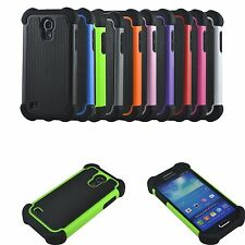 Hybrid Hard Rugged Rubber Impact Armor Case Cover for Samsung Galaxy S4 Mini