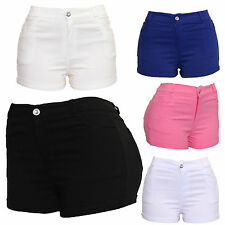 Ladies Women's Sexy Hot Pants Club Party Stretchy Skinny Fit Shorts UK Size 8-16