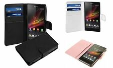 PU Leather Wallet Stand Card Case Cover For Sony Xperia Z C6603 / L36H experia