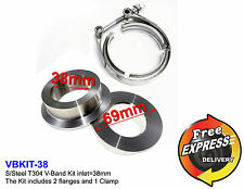 V-Band kit (3pcs) 1.50'' to 5'' / 38mm to 127mm for Downpipes Turbo rally cars