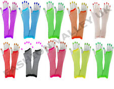 LADIES FISHNET LONG GLOVES ACCESSORIES 80's HEN NIGHT STAG FANCY DRESS COSTUME