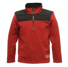 Regatta Topnotch - Boys Grid Fleece - Delhi Red/Black - RRP £20.00 - Free P+P!