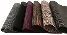 Set of 4 Vinyl Dining Table Place Mats Weave Woven Effect Modern Colours