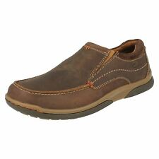 Mens Clarks Randle Free Tobacco Nubuck Leather Casual Slip On Shoes
