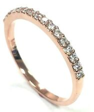 0.25ct Traditional Bridal 14K Rose Gold Wedding Band with Diamonds