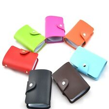 Pu Leather Credit ID Wallet for 24 Cards  Pocket Unisex  Business  Card  Case