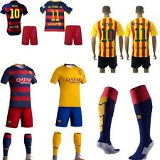 2015-2016 Football Soccer Kits Socks Short Sleeve Kid boy Youth 3-14Y Team Suit